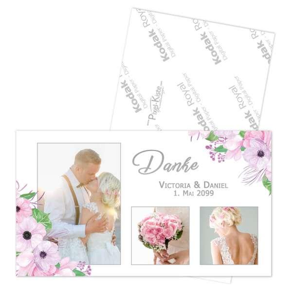 Danksagungen für die Hochzeit Boho-Stil Blumen