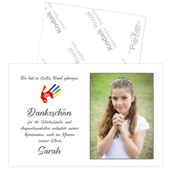 """Danksagungen Erstkommunion """"In Gottes Hand"""""""