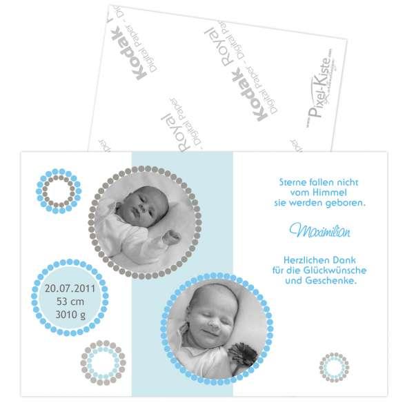Danksagungskarte Geburt