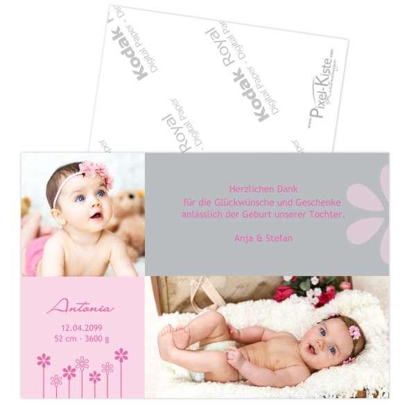 Danksagungskarte zur Geburt