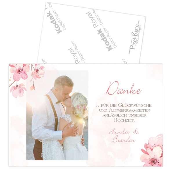 """Danksagungen zur Hochzeit mit Kirschblüten """"Aurelie & Brandon"""""""