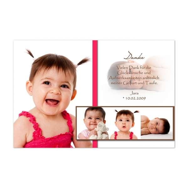 Einladungskarte zur Taufe Junge oder Mädchen Jana / Jan