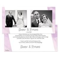 Danksagungskarten für die Hochzeit in Pastelltönen drucken lassen
