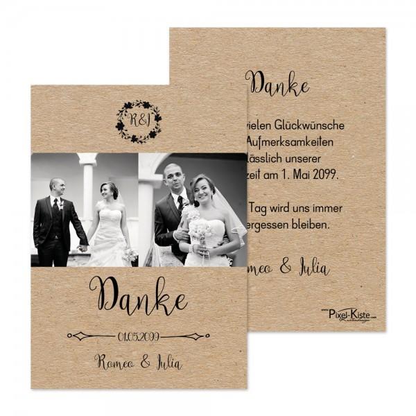"""Danksagungskarten Vintage Hochzeit """"Romeo & Julia"""""""