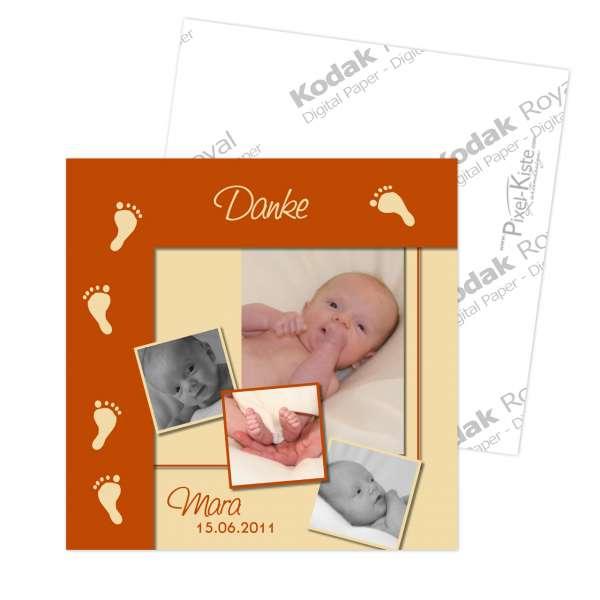 quadratische Geburtsanzeigen