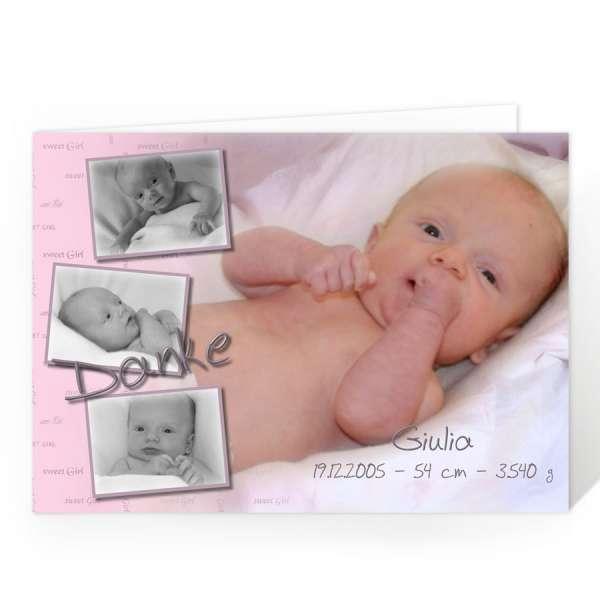 Foto-Danksagungskarten Baby