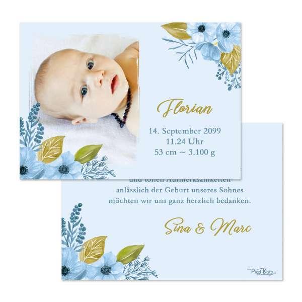 Danksagungskarten Aquarell Geburtsdanksagungen