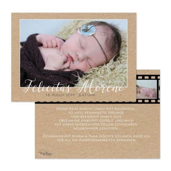 originelle Geburtsanzeigen mit Filmstreifen