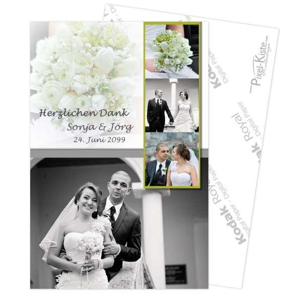 Danksagungskarte Hochzeit Verpartnerung