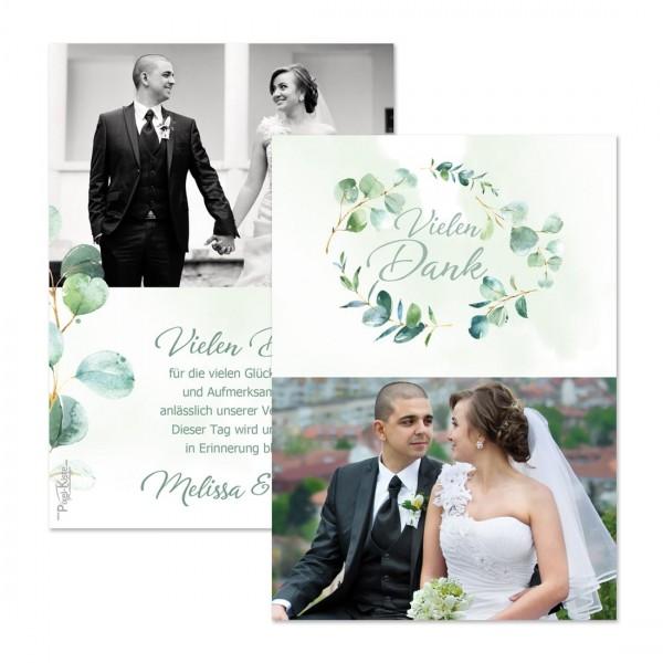 """Danksagungskarten Eukalyptus-Hochzeit """"Melissa & Leon"""""""