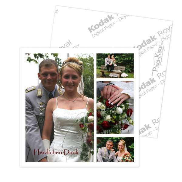 Danksagungskarten Hochzeit quadratisch