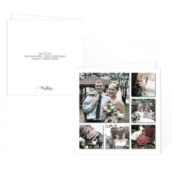 Dankeskarte zur Hochzeit - quadratisch