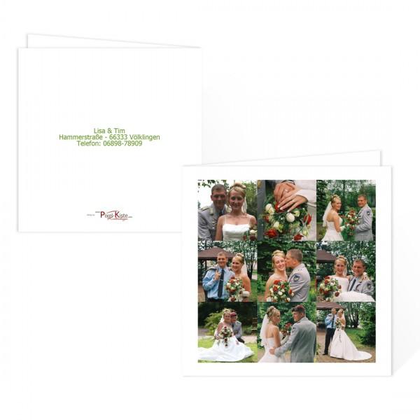 Dankeskarte Hochzeit quadratisch