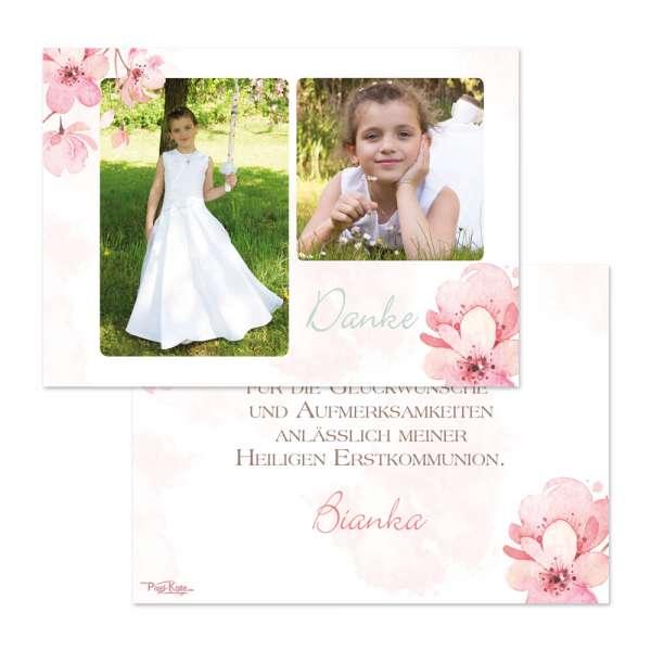 Danksagungskarten «Kirschblüte» Jugendweihe Kommunion Konfirmation