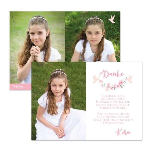 Danksagungskarten Kirschblüten & Taube