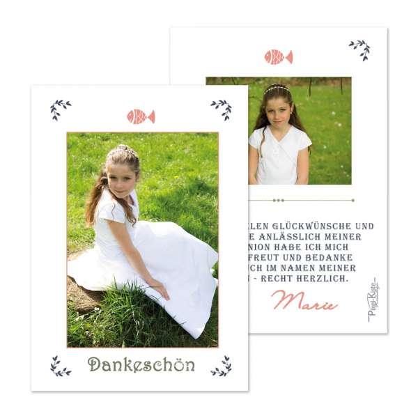 """Danksagungskarten Erstkommunion Konfirmation """"Vintage"""""""