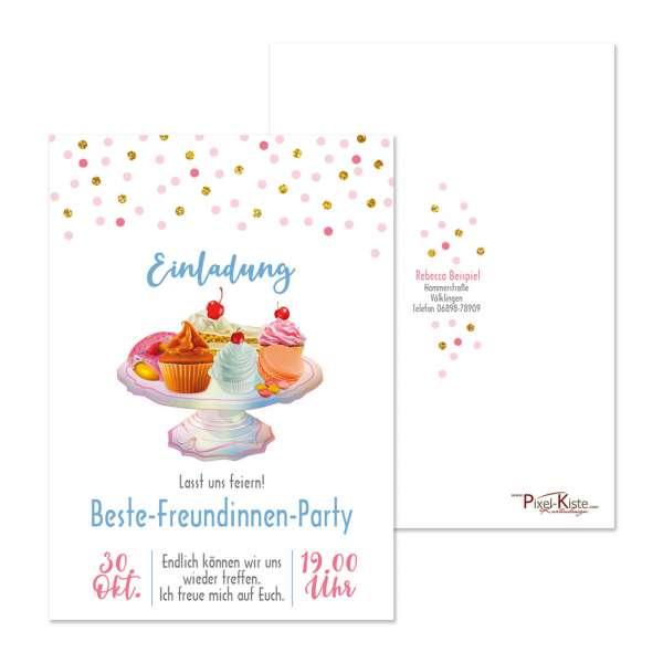 """Einladungskarte im """"Cake-Design"""" zum Kaffee drucken lassen"""