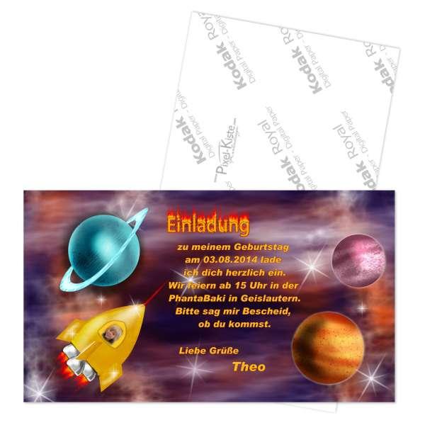 Einladung Weltall Raumschiff