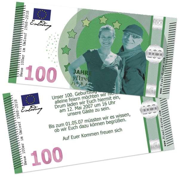 """Geldschein Banknote 100. Geburtstag """"Neue Hunderter"""""""