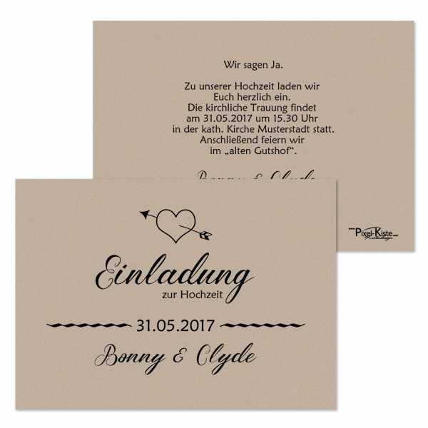 """Einladungskarten Hochzeit Vintage """"Bonnie & Clyde"""""""