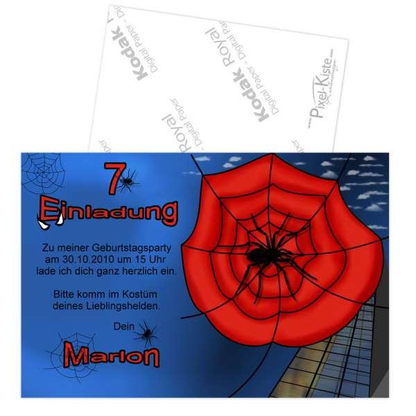 Einladungskarten Kindergeburtstag Spider