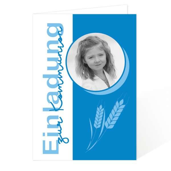 Einladungskarten Kommunion Konfirmation Ähren Getreide