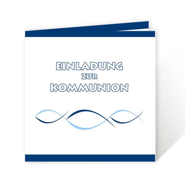 quadratische Einladungskarten Kommunion