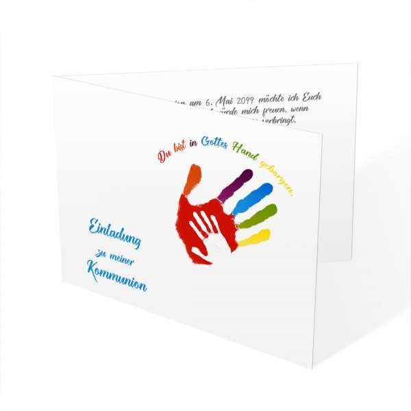 Einladung Erstkommunion Kommunion Gottes Hand