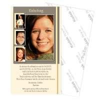 Einladungskarte zur Konfirmation oder Erstkommunion