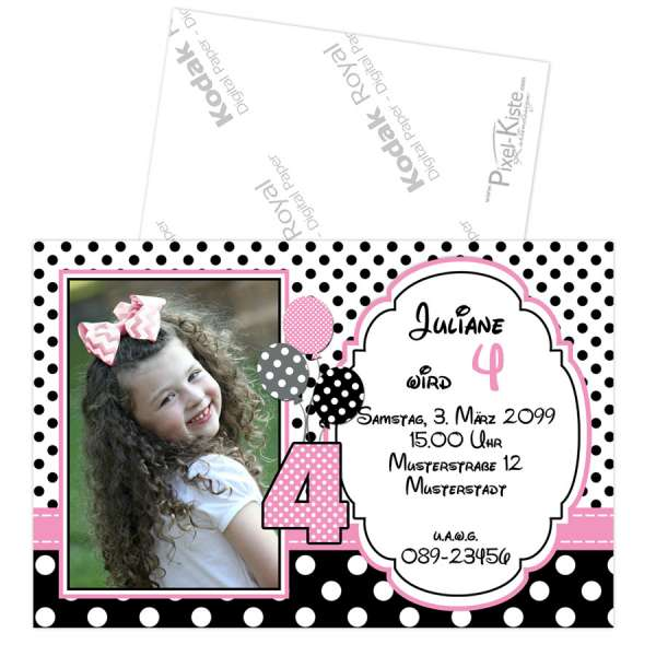 Einladungskarten Minnie Maus