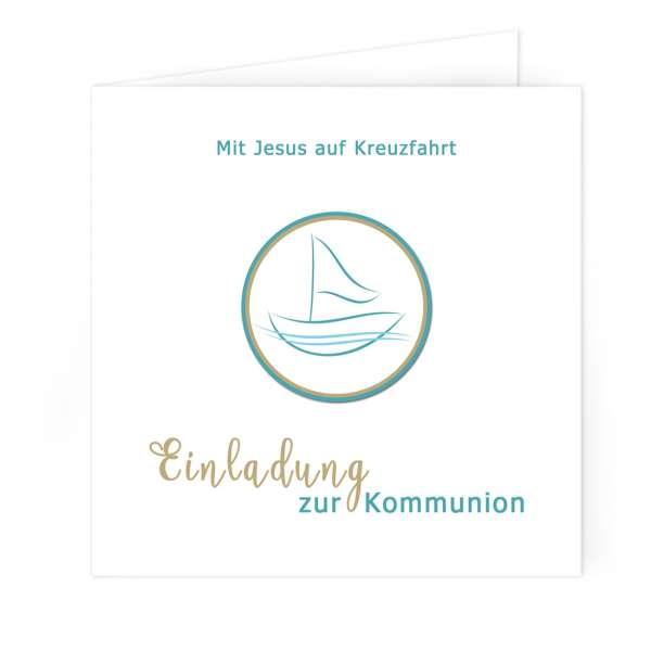 """Einladung Erstkommunion """"Mit Jesus in einem Boot"""""""