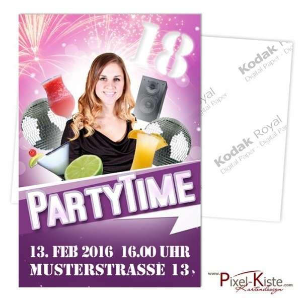 Partyeinladung 18. Geburtstag