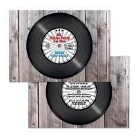 Einladungskarten Oldie-Party Schallplatte Retro