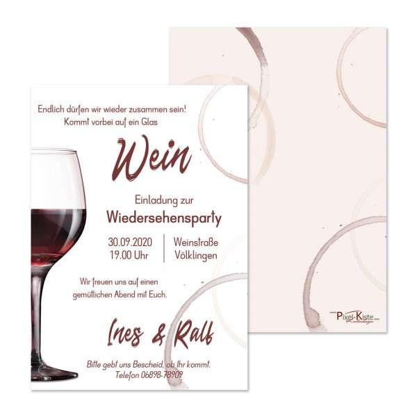"""Einladung Wiedersehensfeier """"Wein"""""""