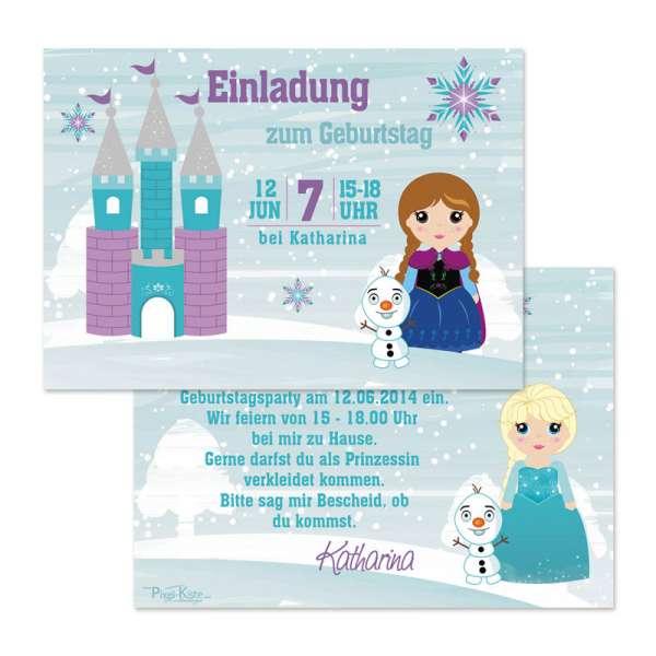 Einladungskarten Eisprinzessin