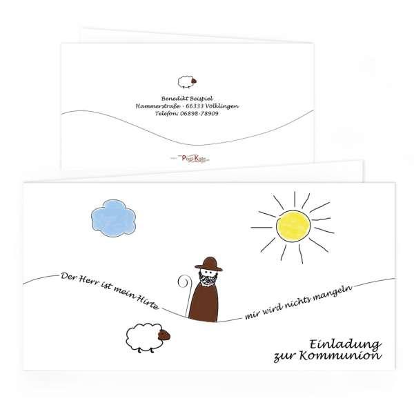 """Einladungen """"Der Herr ist mein Hirte"""" Kommunion Konfirmation"""