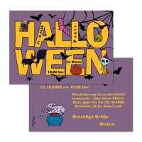 Einladungen Flyer zur Halloweenparty