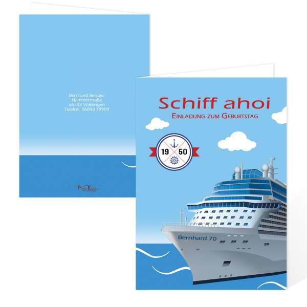 """Einladung zum Geburtstag """"Schiff ahoi"""""""