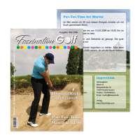 Einladungskarten Golf-Zeitschrift Geburtstag