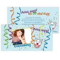 Einladungskarten Karneval Fastnacht Fasching