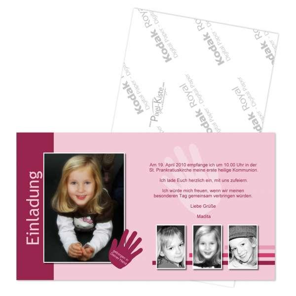 Einladungskarte zur Konfirmation oder Kommunion