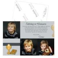 Kommunionseinladungen mit Foto individuell gestaltet