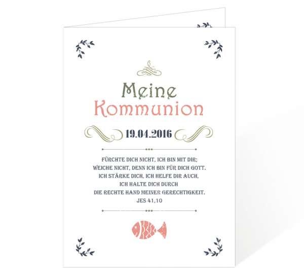 Einladungen Erstkommunion Konfirmation Vintage