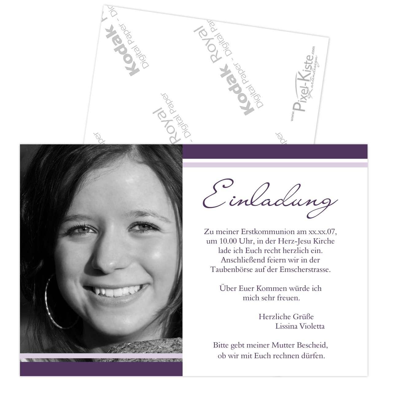 einladungskarten firmung – dressbuying, Einladung