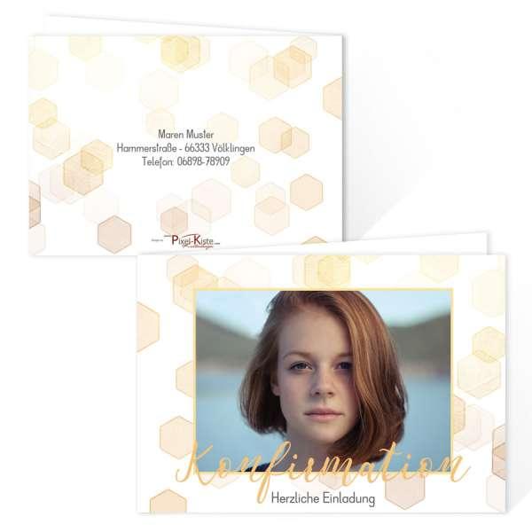 personalisierte Einladungskarten Jugendweihe Konfirmation Kommunion mit Bokehrauten