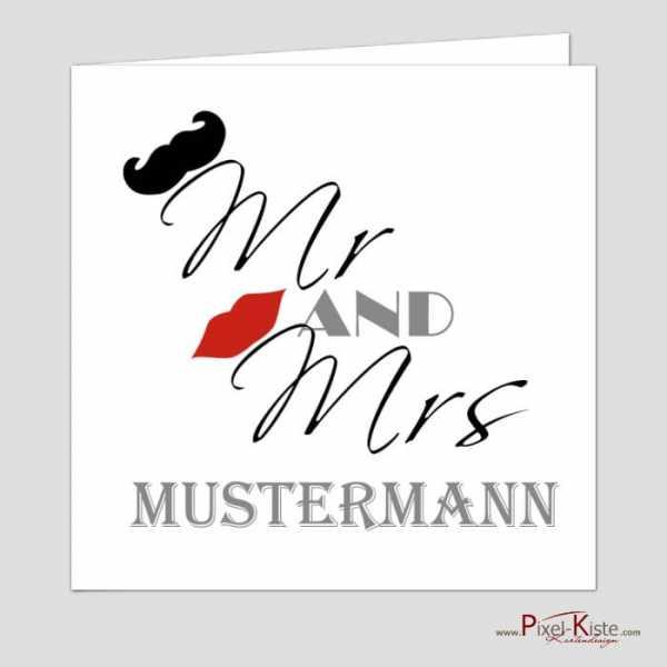 Hochzeitseinladung Mr. and Mrs.
