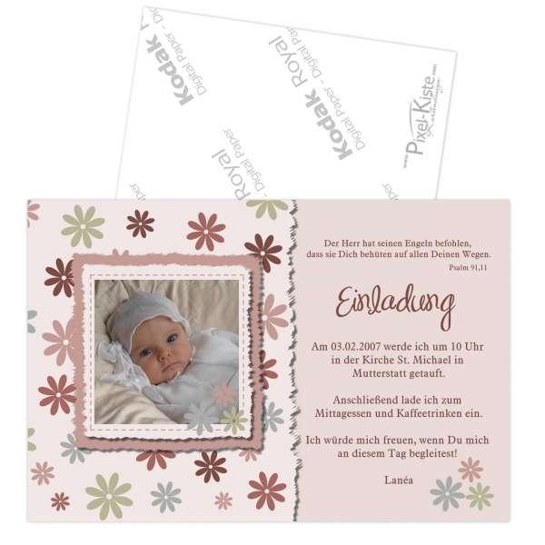 Einladungskarten Zur Taufe Rosa Oder Blau Online Bestellen, Einladung