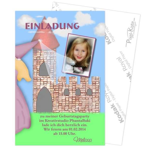 Einladung Kindergeburtstag Burgfräulein
