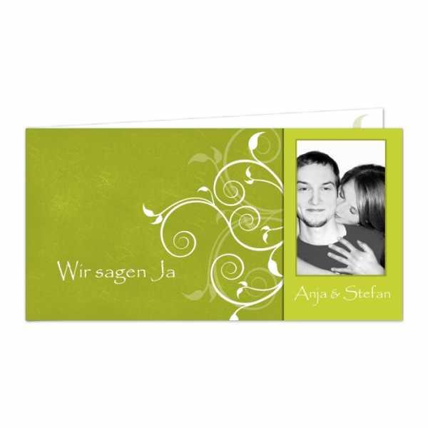 Hochzeitseinladungen langes Format mit Ornamenten