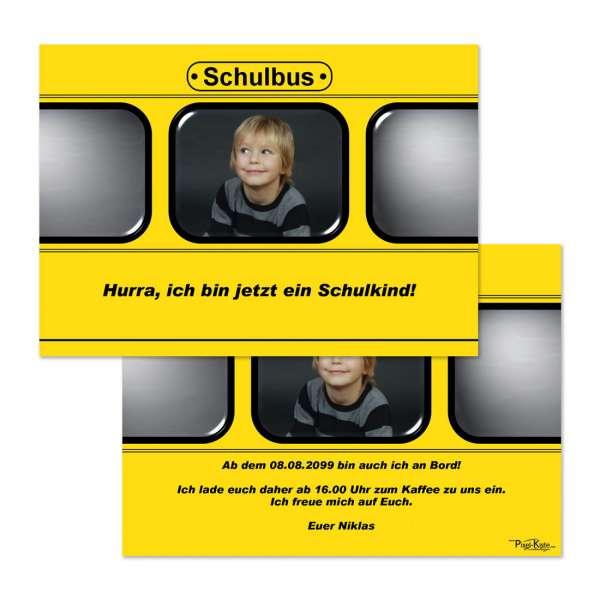 Einladungen Schuleinführung Schulbus